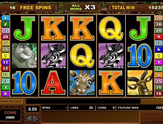 950€ gagnés avec les Free Spins sur Mega Moolah (mise 6,25€)