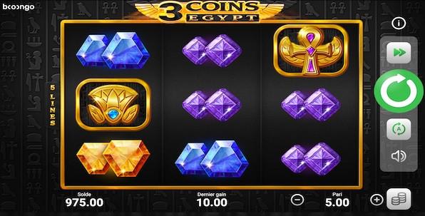 Avec 3 Coins Egypt, Booongo offre ce que les joueurs veulent