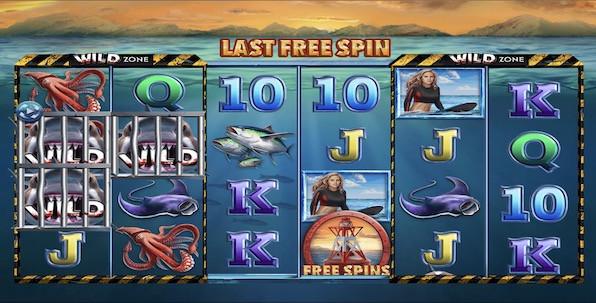 Choisissez vous-même le nombre de wilds sur chacun de vos spins avec 6 Wild Sharks !