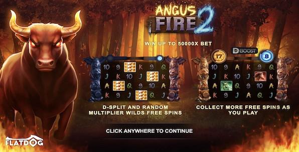 Angus Fire 2 : Nouvelle slot FlatDog de qualité !