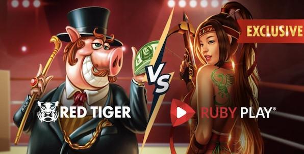 15,000€ à gagner durant le mois de juin avec les slots Red Tiger et Ruby Play