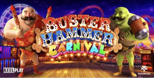 Nouvelle slot de fête foraine à découvrir sur les casinos en ligne Yggdrasil : Buster Hammer Carnival