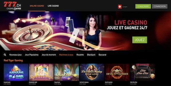 Les nouveautés à découvrir sur le casino en ligne suisse Casino777.ch