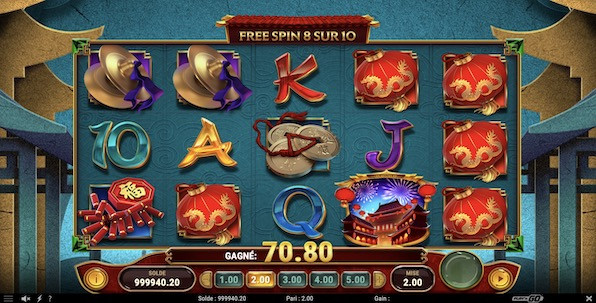 Celebration of Wealth : Quatre modes de free spins et quatre niveaux de jackpots !