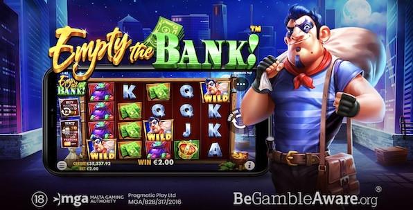 Empty the Bank! : toujours plus de volatilité avec Pragmatic Play