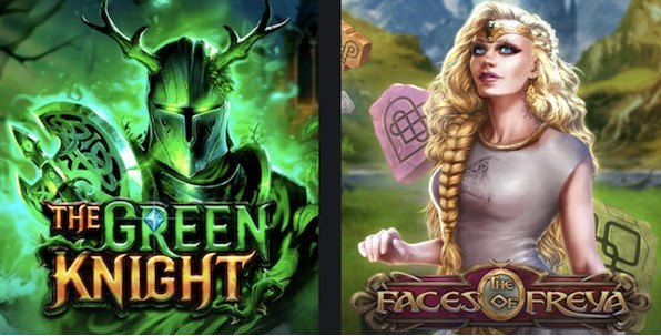 Deux nouvelles slots Play'n GO à découvrir : The Faces of Freya et The Green Knight