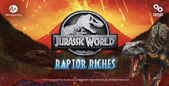 Jurassic World s'invite de nouveau dans le monde des machines à sous en ligne avec Jurassic World: Raptor Riches