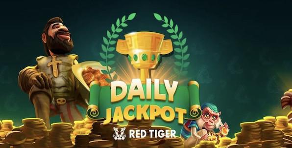 Des jackpots aléatoires Red Tiger sont à gagner chaque jour et chaque semaine !