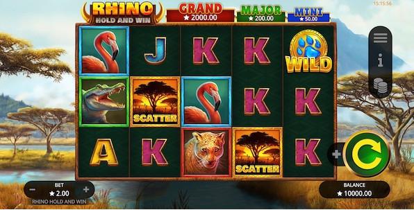 Rhino Hold and Win, la nouveauté du développeur Booming Games !