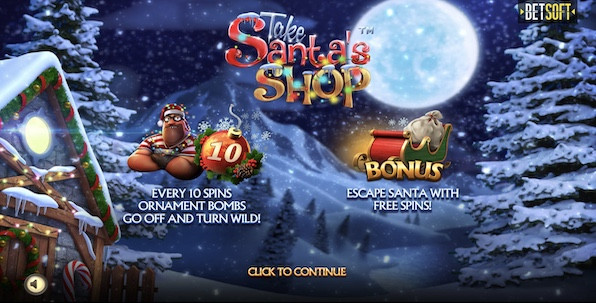 Take Santa's Shop : Betsoft prend de l'avance sur les fêtes de Noël