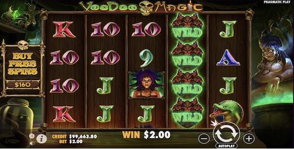 Voodoo Magic, un concentré de volatilité et de bonus pour la dernière slot Pragmatic Play