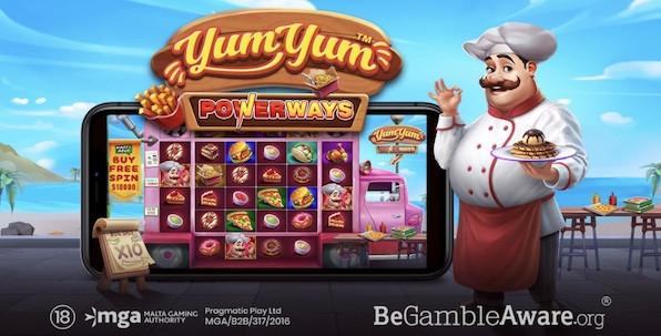 Des lignes gagnantes lisibles dans tous les sens avec Yum Yum Powerways !