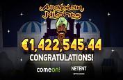 L'un des premiers jackpots progressifs du marché régulé suédois grâce à Arabian Nights !