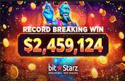 Nouveau record validé pour Bitstarz ! Un joueur rafle 2,4$ millions de gains