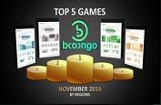 Les 5 machines à sous Booongo les plus jouées en novembre