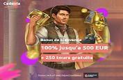 Bonus Exclusif : 250 Free Spins avec le premier dépôt sur Cadoola