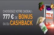 777€ de bonus et fin du calendrier de l'Avent sur Casino777