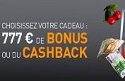 777€ de bonus sur Casino777.be