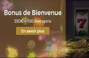 Pack de bienvenue de 350€ et 100 free spins sur Casino Extra