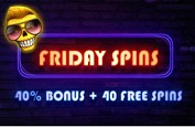Friday Spins sur Magical Spin : 40% de bonus sans condition de mises