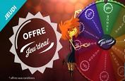 Offre Jeu'Deal de 20 free spins sur OscarBianca aujourd'hui jeudi 6 juillet