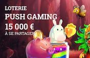 Loterie Push Gaming sur Lucky8 ! 15,000€ de prix jusqu'à dimanche 24
