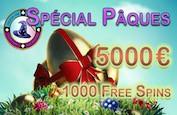5,000€ et 1,000 Free Spins à gagner ce week-end de Pâques sur Magical Spin