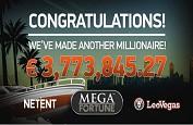 3,7€ millions de jackpot pour la machine à sous Mega Fortune