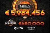 Jackpot Mega Fortune de 5,9€ millions + 650,000€ pour un seul joueur