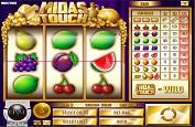 De l'or et les codes des bandits manchots, bienvenue sur Midas Touch de Rival Gaming