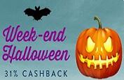 Gros cashback d'Halloween pour Monsieur Vegas tout le week-end