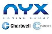 Après le rachat, Nyx Interactive propose les jeux Chartwell et Cryptologic dans sa bibliothèque