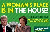 Paddy Power ou l'expert en coup de pub ! Il paie les paris voyant Hillary Clinton gagnante avant même les élections