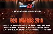 Play'n GO nominé dans sept catégories pour les EGR B2B Awards