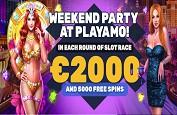 Weekend Party sur Playamo jusqu'à lundi ! 2,000€ et 5,000 Free Spins à gagner