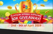 Playson Spring Supreme ! 30,000€ à gagner jusqu'au 9 avril