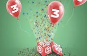 Stakes fête ses 3 ans d'existence ! 3 jours de bonus exclusifs à découvrir