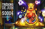 Vivez les Trésors de Juin sur Lucky8 ! 5,000€ à gagner ce week-end